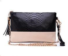 WESTAL Women Bag Genuine Leather Bag Alligator Pattern