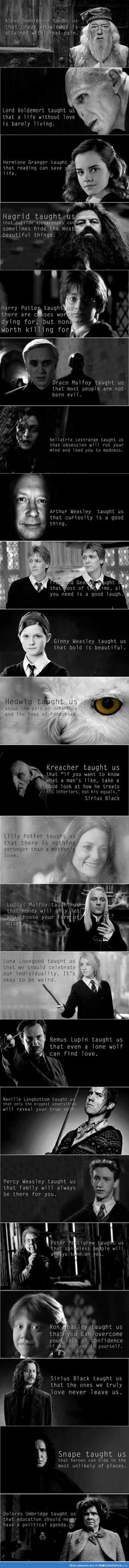the moral of Harry Potter is. And the moral of Harry Potter is.And the moral of Harry Potter is. Memes Do Harry Potter, Potter Facts, Harry Potter Characters, Harry Potter Fandom, Harry Potter World, Harry Potter Spells, Harry Potter Universal, Disney Characters, Hogwarts
