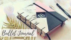 Handmade notebook: My Bullet Journal of 2018 - DIY Tutorial | Marina Araújo