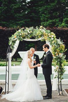 Photography : First Mate Photo Co.   Floral Design : Foret    Wedding Venue : Elm Bank   Event Design : Bash, Please Read More on SMP: http://www.stylemepretty.com/2015/03/17/blogger-bride-colour-blocs-elegant-garden-wedding/