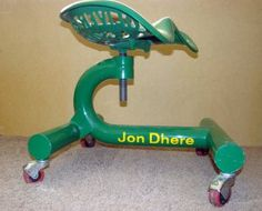 garage chair....not much into the john deer theme that has been ran into the ground on EVERYTHING