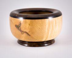 Figural Walnut, Curly Maple, Ebony Vessel  //  Original Art by SteelWoodArts on Etsy
