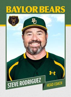 Say hello to new Baylor baseball coach Steve Rodriguez.