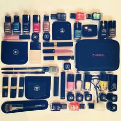 Chanel makeup - I think i have a problem. Chanel lipstick, le vernis, nail polish, makeup brushes, compacts and mascars...and thats only some of it.