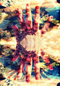 Kaleidoscope with digital imagery and layering in photoshop-inspiration for my own prints