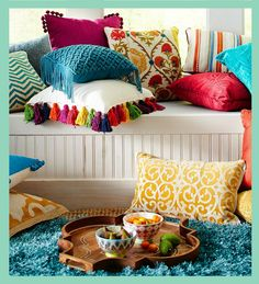 Room decor, small living room furniture, colourful living room, home and li Simple Living Room Decor, Colourful Living Room, Drawing Room Interior, Bohemian Decor, Bohemian Style, Bohemian Bathroom, Bohemian Homes, Bohemian Room, Tribal Decor
