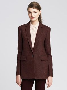 Look like a boss in this Banana Republic burgundy blazer on ShopStyle!