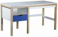Biurko dla dzieci i młodzieży EKO KIDS  Biurko dla dzieci i młodzieży szkolnej. Do jego wykonania użyto drewna bukowego oraz płyty MDF. Posiada pojemną szufladkę, jej prowadnice z systemem domykającym