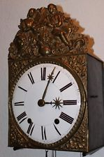 Antique French Morbier Comtoise Wall Clock,1830