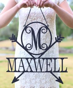 Look at this #zulilyfind! Unfinished Wood Personalized Arrows Wall Sign #zulilyfinds