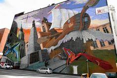 by Meisal & Bary;  at Piotrkowska 152, Lodz, Poland;  http://lodz.gazeta.pl/lodz/56,125594,11295809,Top_10_najwiekszych_murali_w_Lodzi__ZOBACZ_ZDJECIA_.html