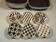 Refrigerator Magnets Set of 6 Glass Fridge Magnets by DLRjewelry, $12.00