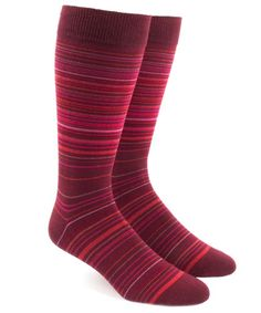 meet 3ad57 a7720 Multistripe Men s Socks - Reds   Ties, Bow Ties, and Pocket Squares   The
