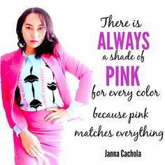Janna cachola quote #pink