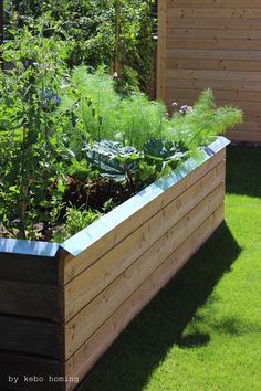 We build a raised bed . building it ourselves is much cheaper and everything grows so well - Build a raised bed yourself, made of wood, earth structure or raised bed filling, instructions on t - Building Raised Beds, Raised Garden Beds, Garden Types, Patio Plants, Diy Garden Projects, Plant Design, Landscape Design, Home And Garden, Backyard