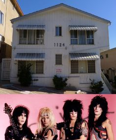 "Motley Crue's Infamous Apt ""Motley House""  Located just above the Sunset Strip at   1124 N. Clark St. West Hollywood, Calif."