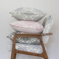 Elle Kay Fabrics Mosaic Cushion Covers available in three colours, Graphite, Black and Rose Quartz Black Cushions, Scatter Cushions, Thing 1, Fabric Labels, Cushion Covers, Graphite, Rose Quartz, Accent Chairs, Mosaic