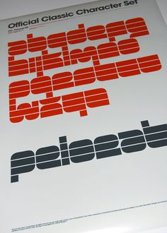 Typo posters, 2009. by Official Classic , via Behance