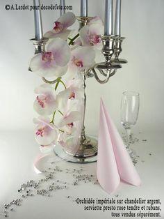 Chandelier fleur pour centre de table de mariage wedding - Branche deco vase ...