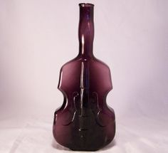 Vintage Purple Glass Violin Bottle