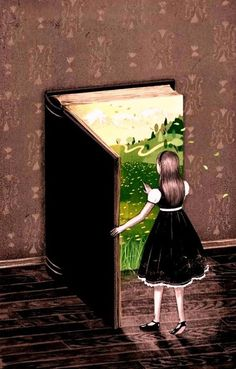 Books are door shapped – Joy of Reading Double Exposition, Reading Art, Book Drawing, Free Art Prints, World Of Books, Children's Book Illustration, I Love Books, Art Plastique, Surreal Art