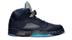 best service 70688 f6c83 Authentic 136027-405 Air Jordan 5 Retro Midnight Navy Turquoise Blue-White  Only For Black Friday
