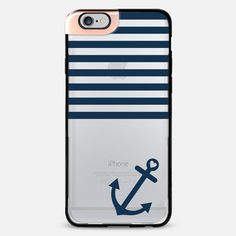 Navy Blue Nautical Transparent iPhone 6 Plus Metaluxe Case by Organic Saturation | Casetify Get $10 off using code: 53ZPEA