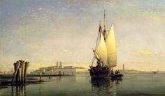 Venice Oil Paintings--The Lagoon of Venice