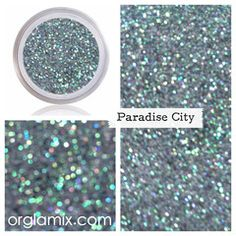 Take me down to the paradise city. Where the grass is green and the girls are pretty! Paradise City is a n ultrafine stunning green lustre glitter that flashes an iridescent array of jungle green, spa Glitter Pigment, Glitter Eyeliner, Body Glitter, Glitter Makeup, Glitter Hair, Glitter Gel, City Cosmetics, Gel Nails, Nail Polish