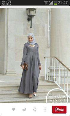 Grijs abaya