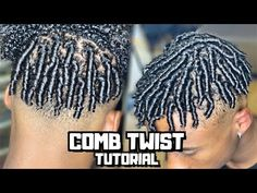 Comb twist/Finger Coils For Men Tutorial Finger Coils Natural Hair, Coiling Natural Hair, Natural Hair Men, Natural Hair Twists, Natural Hair Styles, Mens Twists Hairstyles, Black Boy Hairstyles, Black Men Haircuts, Cool Haircuts