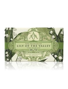 Aromas Artesanales De Antigua Floral AAA Soap Bar - Lily of the Valley: An enticing and clever blend of floral fragrances, these rich, nourishing and delightfully packaged soap bars combine wonderful formulations with seductive scents, leaving your skin cleansed and beautifully fragranced.