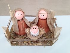 Wooden Christmas Crafts, Nativity Crafts, Christmas Ornament Crafts, Rustic Christmas, Diy Christmas Gifts, Christmas Fun, Christmas Decorations, Cute Crafts, Fall Crafts