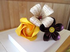 Custom Origami Flower Bouquet Photo Prop. $9.95, via Etsy.