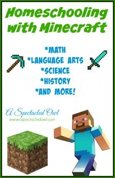Homeschooling with Minecraft - Math, Language Arts, Science, History & More! Started finding a lot of links for Minecraft curriculum. What could be better than homeschooling with Minecraft? Some cost money but I didn't include those Home Schooling, Kids Education, Texas Education, Education Reform, Primary Education, Childhood Education, Kids Learning, Learning Websites, Learning Quotes