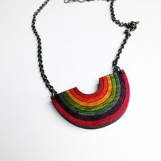 If you're from my era, hopefully you'll know where the name of this necklace came from!It's a bit of a play on my classic rainbow brooch - turned upside down to create a super cute colourful necklace.Necklace has a gorgeous antique coloured chain with a parrot clasp.Necklace is approximately 46cm long.Drop is approximately 23.5 cm long