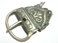 Superb Medieval 11th~12th Century Decorated Silver Buckle & Return Plate. (A673) in Antiques, Antiquities, European   eBay