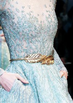 Zuhair Murad Haute Couture Spring 2014 | beautiful dress blue sparkle fashion