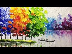 Creating a Landscape With a Palette Knife - YouTube