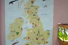School UK Map mural