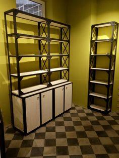 Проект, производство и монтаж. Стеллажи в стиле лофт. Оригинальная мебель из металла и дерева от производителя мебели в Москве. #лофт #стеллажи #производство
