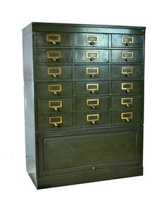 Repurpose Vintage Globe-Wernicke Industrial Cabinet