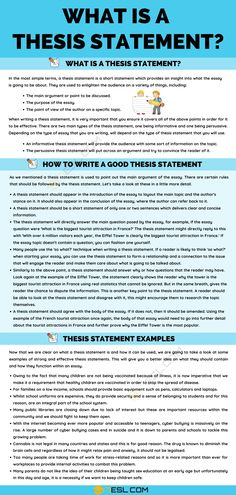 Thesis Statement: Definition, Useful Tips and Examples of Thesis Statement Essay Writing Skills, Expository Writing, Writing Words, Life Hacks For School, School Tips, English Tips, Learn English, Writing Comprehension, Law Notes