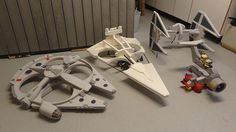 Quadcopters turned into a Star Destroyer, TIE fighter, and Millennium Falcon