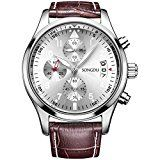 #2: SONGDU Mens Date Multifunction Quartz Wrist Watch with Brown Calfskin Leather Band | http://ift.tt/2cl82Sl shares men Watches collection #Get #men #watches #fashion