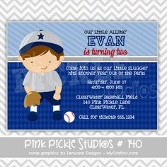 Baseball Player 2 Personalized Party Invitation-personalized invitation, photo card, photo invitation, digital, party invitation, birthday, shower, announcement, printable, print, diy,sports