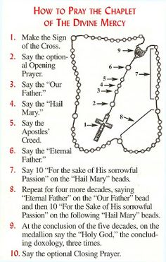 Divine Mercy Chaplet PDF | The Sign of the Cross: In the name of the Father, and of the Son ...