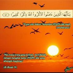 Al-Ahzab: 41