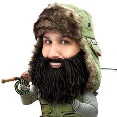 Trapper Beard Hat - Funny Fur Trapper Beard Head