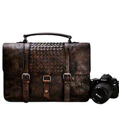 ZLYC Handmade Old Leather Dip-dye DSLR Camera Bag / Satchel / Messenger Bag - Two in One - Vintage Retro Look (Coffee) ZLYC http://www.amazon.co.uk/dp/B013SL8V26/ref=cm_sw_r_pi_dp_G9.zwb0FFYZRD #camerabag #leathercamerabag #darkbrown #large #lensecase #messengerbag #shoulderbag #mens #retro #vintage #DSLR #woven